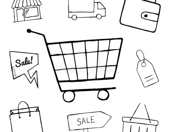 set business doodle icons shopping icons design hand drawn shop sale shopping bag basket objects 69736983 576x450 ساخت فروشگاه اینترنتی با فروشگاه ساز پویا