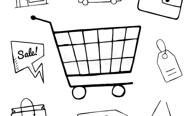 set business doodle icons shopping icons design hand drawn shop sale shopping bag basket objects 69736983 800x480 ساخت فروشگاه اینترنتی با فروشگاه ساز پویا
